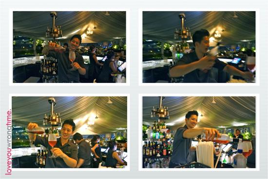 The cute and charming Korean bartender at Lantern. An nyoung ha seh yo!