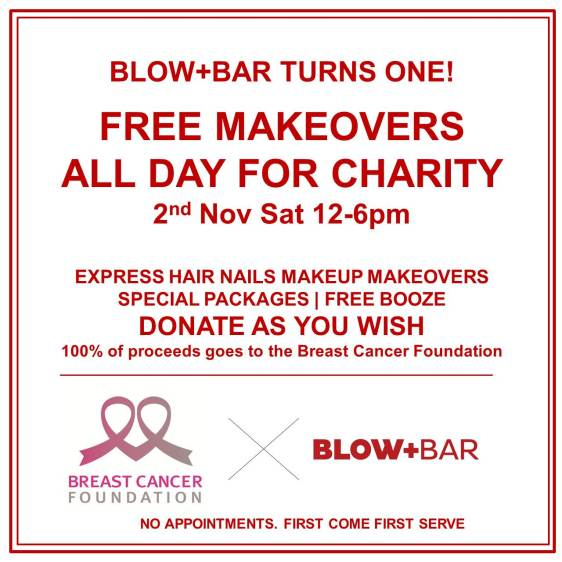 Blow+Bar first anniversary x Breast Cancer Foundation